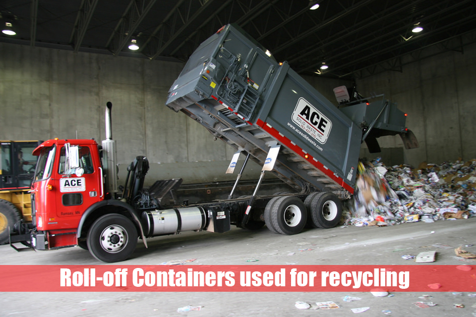 Roll-off Containers used for recycling: types and sizes
